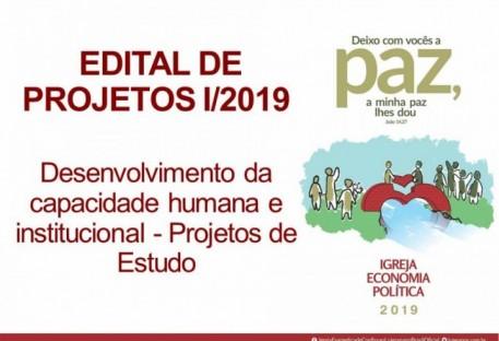 EDITAL DE PROJETOS I/2019  - Desenvolvimento da capacidade humana e institucional - Projetos de Estudo