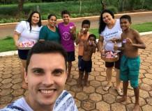 Entrega de casquinhas aos moradores do bairro Nova Querência em Guaraí/TO