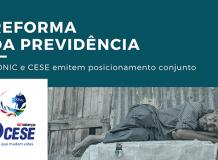 Nota conjunta: CONIC e CESE se posicionam sobre a Reforma da Previdência