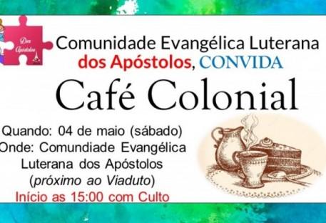 CAFÉ COLONIAL NA COMUNIDADE EVANGÉLICA DE CONFISSÃO LUTERANA DOS APÓSTOLOS