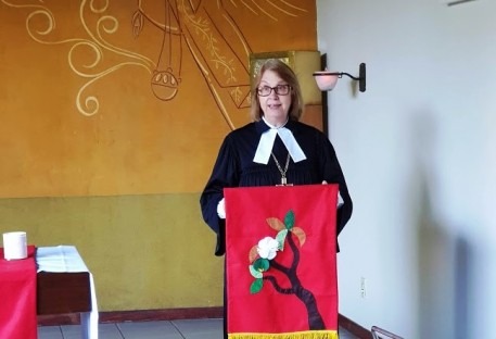 Participação da Pa. Presidente Silvia Genz na 20ª Assembleia Sinodal do Sínodo Brasil Central