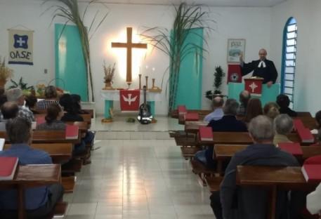 Culto de Ação de Graças na Comunidade Evangélica de Linha 11 - Coronel Barros/RS