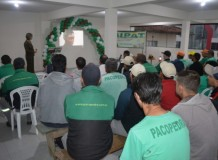 Márcia H. Hülle palestra sobre violência em empresa privada no município de Gaspar