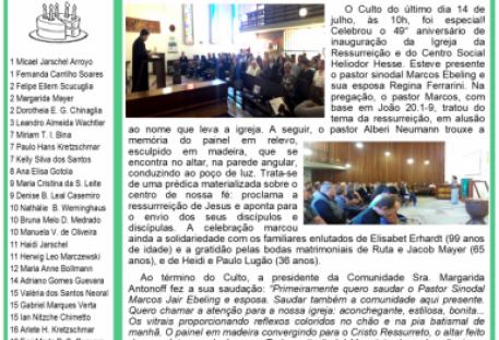 ARCO-ÍRIS - Agosto 2019
