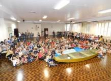 Crianças de Blumenau participam de encontro com a temática Jesus acalma a tempestade