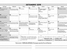 Calendário - SETEMBRO 2019