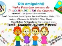 Crianças louvando a Deus na Paróquia Apóstolo João - Jaraguá do Sul/SC