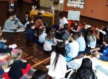 Diversão: crianças da Comunidade Martim Lutero tiveram uma tarde com piquenique