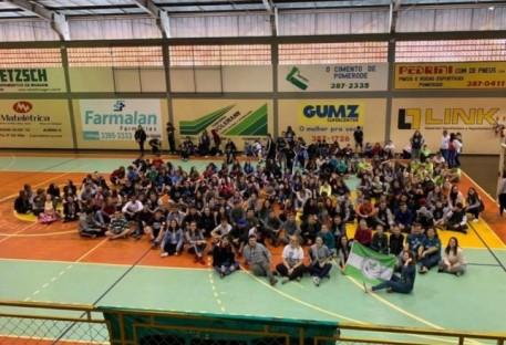 Benedito Novo conquista ponta da classificação geral das olimpíadas de jovens no Vale do Itajaí
