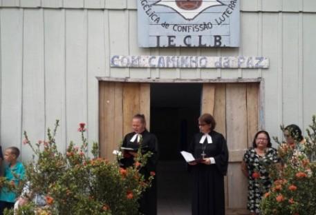 Dedicação do novo templo da Comunidade Caminho da Paz - São Miguel do Guaporé /RO