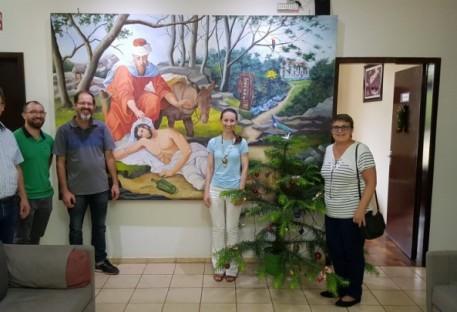 Diaconia Sinodal visita Centro de Recuperação Nova Esperança (CERENE) em São Bento do Sul/SC