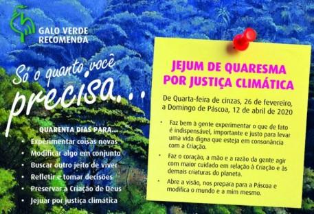 Jejum de Quaresma por Justiça Climática