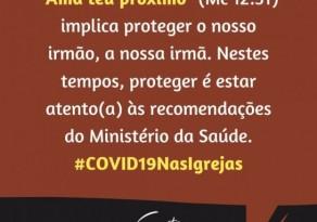 Campanha-Mensagem do Conselho Nacional de Igrejas Cristãs (CONIC) em Tempos de Coronavírus