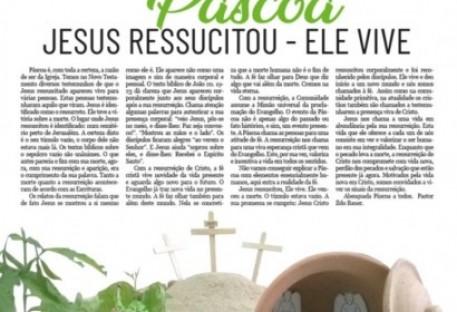 Jornal do Sínodo Uruguai - Ano18 -  nº 73 - março 2020