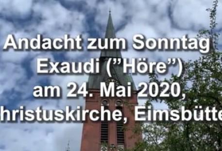 Culto Virtual em Alemão - 24/05/2020 - Hamburg/Alemanha