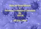 Nota sobre atividades presenciais, emitida pela Presidência da IECLB, pelas Pastoras Sinodais e pelos Pastores Sinodais em 29/05/2020