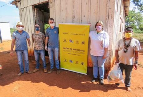 Mais de 11 toneladas de alimentos são entregues a 14 comunidades indígenas no Oeste do Paraná