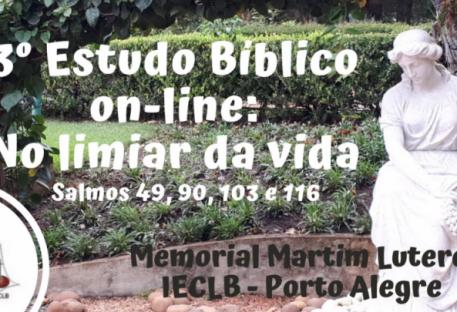 Estudo Bíblico on-line - 3º Encontro: Salmos - No limiar da vida!