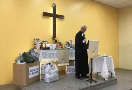 Paróquia Nova Vida, Comunidade Arroio da Manteiga e Comunidade Campina realizam campanha de doação de alimentos e agasalhos
