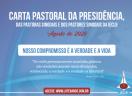 Carta Pastoral da Presidência, das Pastoras Sinodais e dos Pastores Sinodais da IECLB  - Agosto 2020