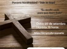 Culto de Ação de Graças marca parceria Vale do Itajaí - Nordfriesland