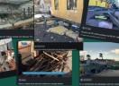 Ações de reconstrução em Garuva, após o ciclone bomba