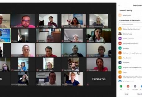 Secretárias e secretários de comunidades participam de encontro virtual no Vale do Itajaí