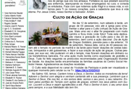 Boletim Arco-íris - Outubro de 2020 - Paróquia do ABCD, Santo André/SP