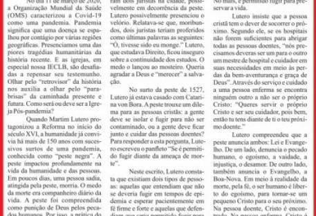Jornal do Sínodo Uruguai - edição digital -  nº 06 - outubro 2020