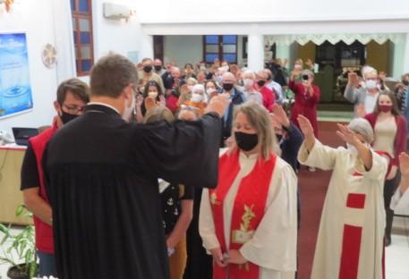 Pastora Cristina Scherer despede-se da Paróquia