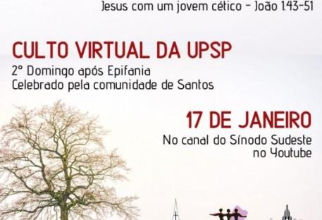 Culto - 2º Domingo após Epifania - Comunidade de Santos - Santos/SP - 17/01/2021