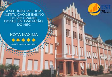 Faculdades EST é a segunda melhor instituição de ensino do Estado do RS