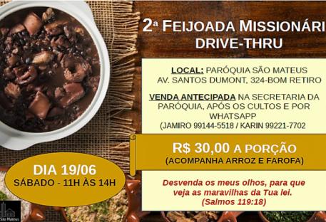 2ª Feijoada Missionária e Brigadeiros Drive-Thru