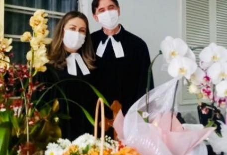 Hilton Gorris e Christiane Plautz são instalados em Blumenau/SC
