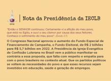 Nota da Presidência da Igreja Evangélica de Confissão Luterana no Brasil (IECLB) sobre o Fundo Eleitoral