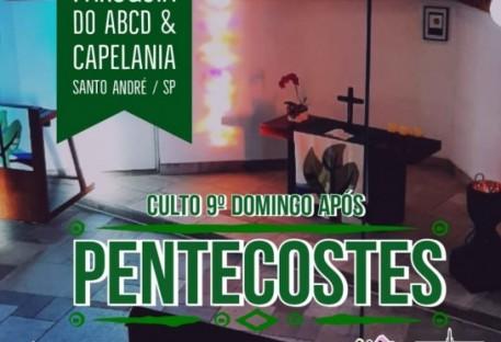 Culto: 9° Domingo após Pentecostes - Paróquia do ABCD e Capelania Hospitalar Oswaldo Cruz - Santo André/São Paulo/SP - 25/07/2021