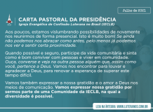 Carta Pastoral da Presidência da IECLB - Julho 2021