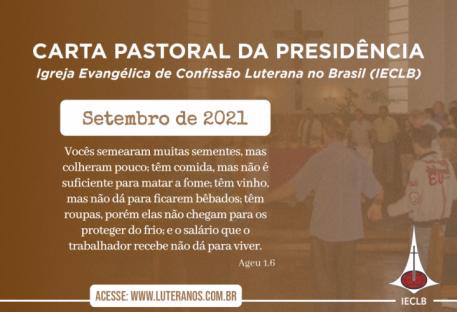 Carta Pastoral da Presidência da IECLB  - Setembro - 2021