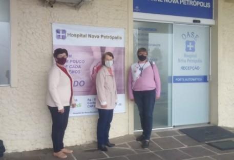 OASE de Picada Café doa alimentos e produtos de higiene ao Hospital de Nova Petrópolis/RS