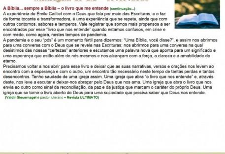 A Bíblia... sempre a Bíblia - o livro que me entende