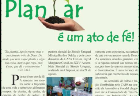 Jornal do Sínodo Uruguai - edição digital -  nº 07 - outubro 2021
