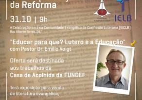 21ª celebração conjunta da Reforma entre IECLB e IELB será celebrada no domingo