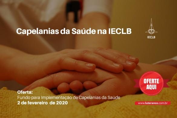 Oferte aqui! Fundo para Implementação Capelanias da Saúde - 02-02-20