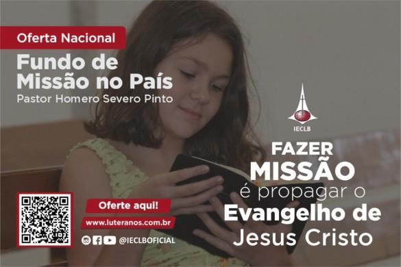 Oferte aqui - Fundo de Missão no País P. Homero Severo Pinto