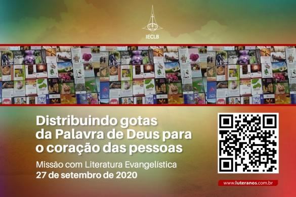 Oferte aqui - Missão com Literatura Evangelística - 27-09-20
